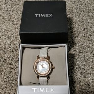 Timex watch with crystal detailing